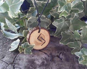 Rune Necklace - Rune Pendant -  Jera - Harvest - Success - Talisman Necklace - Wiccan Jewelry - Rune Jewelry
