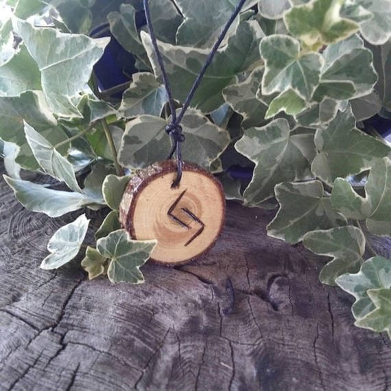 Rune Necklace - Rune Pendant -  Jera - Harvest - Success - Talisman Necklace - Wiccan Jewelry - Rune Jewelry