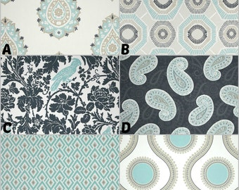 Custom Crib Bedding, Nursery and Home Decor / Design Your Own / Crib Bumper, Skirt, Sheet, Curtains / Premier Prints / Canal / Gunmetal