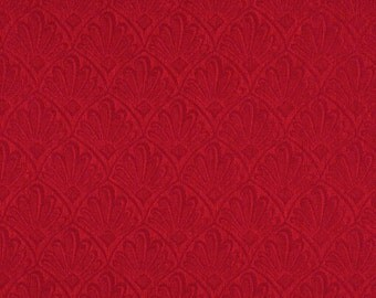 Red Two Toned Fan Upholstery Fabric By The Yard | Pattern # A122