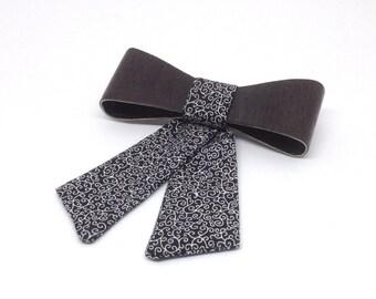 Ladies Wooden bow tie - Oak Slim