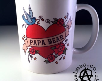 Tattoo style 'Papa Bear' Mug