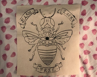Easy Lucky Free Bright Eyes back patch