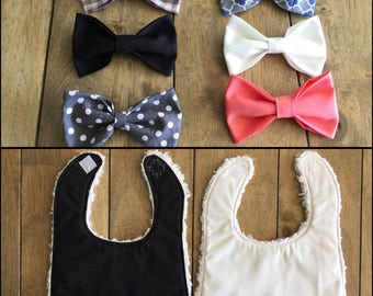 Dressy Bow Tie Bibs - Special Occasion