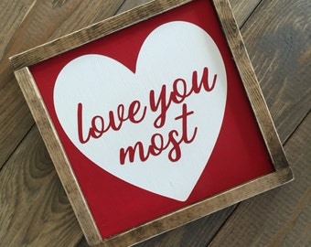 Valentines Day mini farmhouse style sign