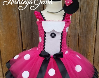 Minnie Mouse Costume, Pink Minnie Mouse Birthday Outfit, Minnie Mouse Tutu, Minnie Mouse Tutu Dress, Minnie Mouse Dress Toddler