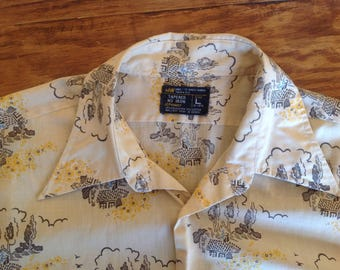 JCPenny short sleeve shirt size Large