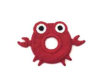 Knit crab camera buddy - Camera buddies, Shutter buddy, Shutter buddies, lens buddy, Lens critter, Lens friend, DSLR lens accessory