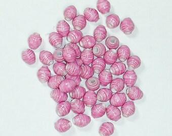Paper Beads, Loose Handmade Supplies Itty Bitty Pink Zebra