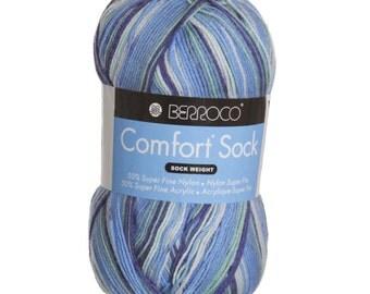 Berroco Comfort Sock Yarn- Fjordland 1827 Nylon/Acrylic Blend