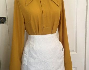 CLOSET MOD White Jacquard Mini Skirt