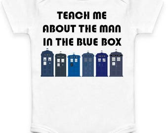 """Doctor Who """"Man in the Blue Box"""" Baby Clothes"""