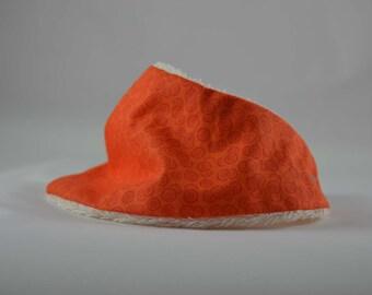 Sheepskin baby towel for the babitas Orange