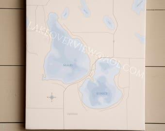 Maud & Eunice Lake Map