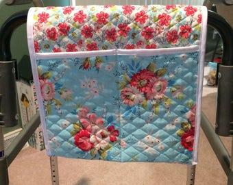Walker Caddy Bag (roses on blue)