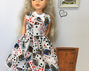 "Adult collectors ""Alice"" dress for vintage Sindy."
