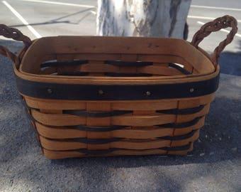 Longaberger Collector Handmade Basket Small Longaberger Basket