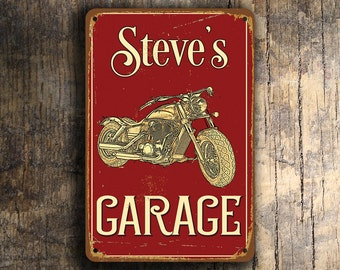 CUSTOM MOTORCYCLE SIGN, Customizable Motorcycle Signs, Vintage style Garage Sign, Motorcycle Garage Sign, Motorbike Signs, Gift for Biker