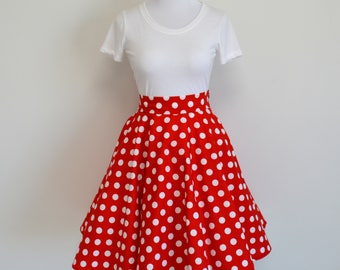 Minnie Mouse Inspired Circle/Swing Skirt (No sash)