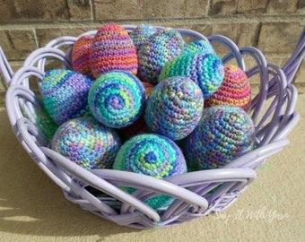 Set of 3 Crochet Easter Eggs - Handmade Easter Eggs - Easter Decoration - Spring Decoration - Easter Centerpiece - Easter Basket Eggs