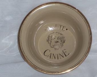 Vintage Hall Pottery Haute Canine Dog Dish