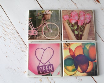 Lifestyle fun Photography Coasters/ Colourful Teenage Home Decor/ Christmas gift