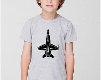 KillerBeeMoto: Limited Release Children's Fighter Jet Airplane Plane Shirt F18 Hornet