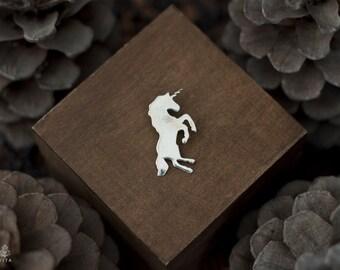Unicorn, sterling silver pendant, charm, everyday jewelry, metalsmith, animal totem, everyday jewelry
