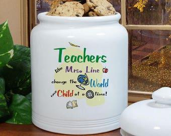 Personalized Cookie Jar, Teacher Cookie Jar