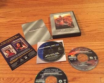 Vintage 80's Star Trek II Directors Cut 2 Disc Box Set DVD Video Movie