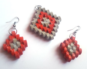 Quilling jewelry-pendant and Earring set