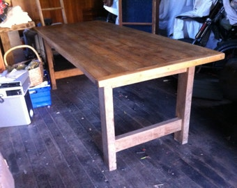 French Dining Table,Vintage Farmhouse,solid chestnut,2.12 metres,Rustic Table,seats 8