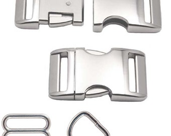 """Metal Buckle Upgrade for 1"""" or 3/4"""" Dog Collars"""