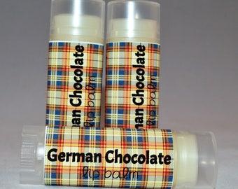 German Chocolate - Lip Balm - Chocolate  Cake - Chapstick - Organic Lip Balm - Lip Butter - Bath and Beauty