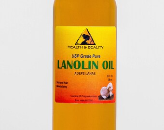 2 oz LANOLIN OIL USP Grade 100% Pure Skin Hair Moisturizing