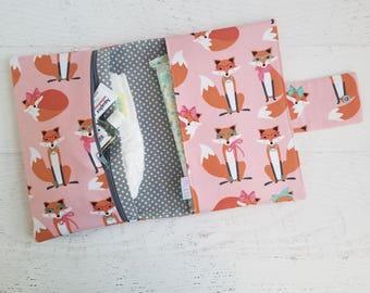 Baby Girl Diaper Bag | Woodland Diaper Bag | Fox Diaper Bag | Diaper Clutch Bag | Small Diaper Bag | Nappy Bag | Nappy Wallet