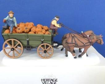 Dept 56 Harvest Pumpkin Wagon New England Village Accessory