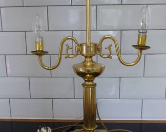 Vintage Brass Bouillotte Lamp Base