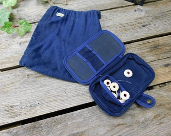 Vintage WWII U.S. Navy Sewing Kit and Drawstring Pouch