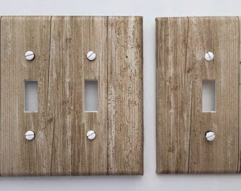 Rustic Wood Light Switch Plate Cover grey brown image 82 // SAME DAY SHIPPING**