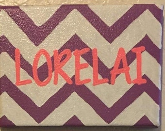 9x12 Painted Monogram Canvas