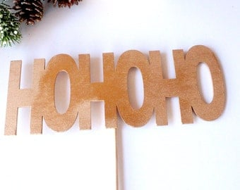 "Christmas Props, ""HOHOHO"" word props, word art, Photo Booth Props, Party Props, Wood Props"