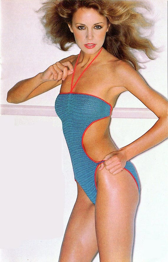 Vintage Crochet Swimsuit Custom Stretch Retro Style Sexy Fashion Perfect Fitting Summer Beach Holiday Many Colors