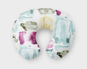 Nursing Pillow Cover Abstract Watercolor. Nursing Pillow Cover. Watercolor Boppy Cover. Abstract Cover. Baby Bedding. Nursing Pillow Cover.