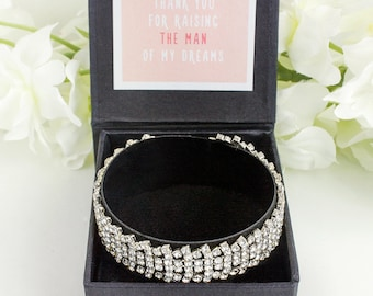 Bridesmaid Bracelet Gift, Mother of the Bride Gift, Wedding Accessories, Silver Rhinestone Bracelet, Bridal Party Gift, Maid of Honor B62S