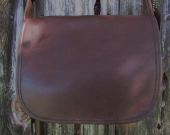 """Coach ~ Patricia Legacy ~ Brown ~ Glove Leather ~ Shoulder Bag ~ Vintage ~ Recycled ~ Awesome ~ 8"""" X 10"""" X 4"""" Medium Size"""