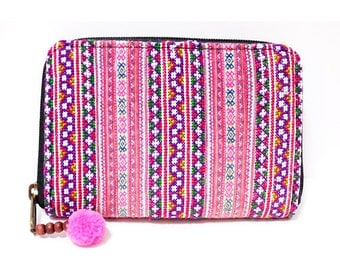 Hmong Wallet (0003) Hmong Embroidery wallet Ethnic wallet Hippie wallet Hmong embroidery Wallet