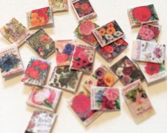 1/12 Scale Flower Seed Packets (pkg 24)
