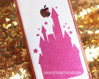 "Pink Glitter Castle Decal [2.2 by 3.6""]"