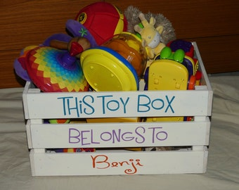 Beautiful, handmade and personalised wooden toy box